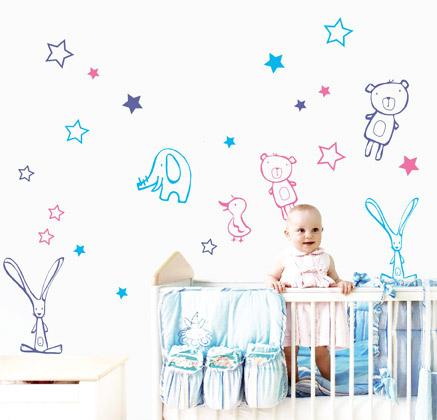 Vinilos decorativos para beb s imagui for Habitacion bebe con vinilos