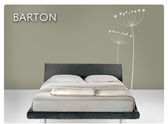 Vinilos decorativos sutiles vinilos decorativos - Disegni da muro per camera da letto ...