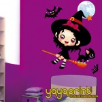 Vinilos decorativos de Halloween para niñas pequeñas