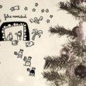vinilos decorativos belén de navidad