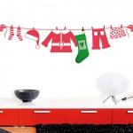 Vinilo calcetin de Navidad