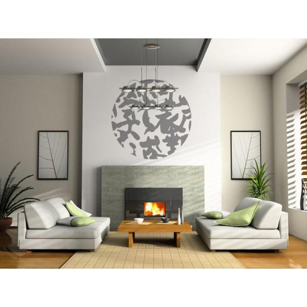 Vinilo decorativo sala abstracto oriental vinilos for Sala vinilo