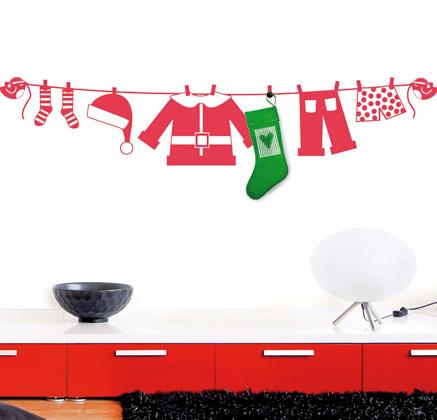 Vinilo navidad calcetin papa noel vinilos decorativos - Vinilos decorativos de navidad ...