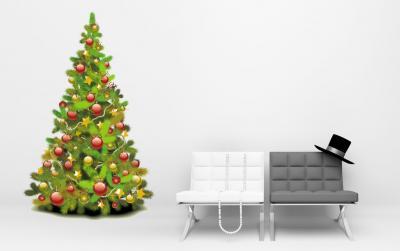 Vinilo arbol de navidad vinilos decorativos - Vinilos decorativos de navidad ...