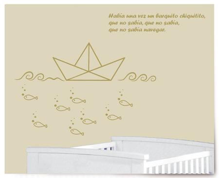 Barquito de papel vin lico vinilos decorativos - Papel de vinilo para banos ...
