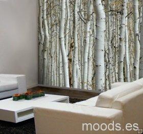 Bonito vinilo tipo fotomural para la sala vinilos for Vinilos pared blancos