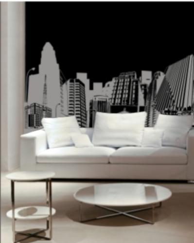 Vinilo decorativo urbano para la sala vinilos decorativos for Vinilos para pared precios