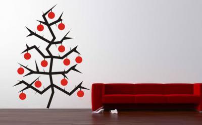 Vinilo arbol de navidad vinilos decorativos for Vinilos decorativos navidad