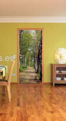 Decorar puertas con vinilos autoadhesivos eroski consumer - Fotomurales adhesivos pared ...