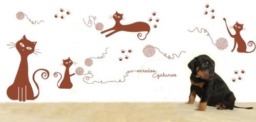 Vinilos decorativos con gatos