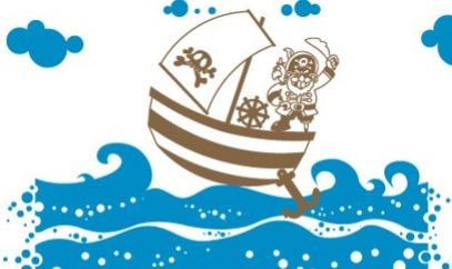 Vinilo decorativo barco pirata vinilos decorativos for Vinilos infantiles para ninos