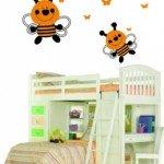 Abejas, abejitas y mariposas para la habitación de los peques