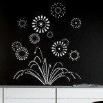Las paredes negras piden un vinilo decorativo como éste