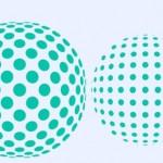 Efecto 3D con esferas de puntos en la sala
