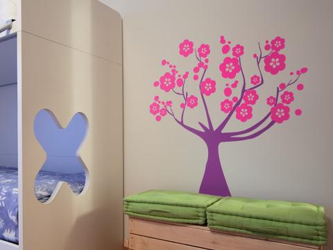 Vinilo arbol de cerezo vinilos decorativos for Vinilos para nenas