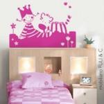 Cabecera de cama infantil para niñas