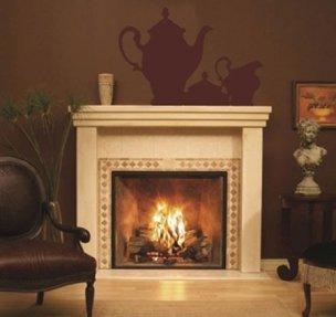 Vinilo decorativo chimenea vinilos decorativos - Fuego decorativo para chimeneas ...