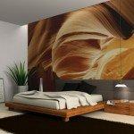 Un fotomural de dormitorio ideal para el invierno