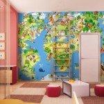 Un mapa del mundo muy original para tu peque