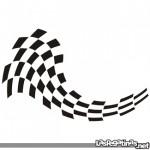 Bandera Racing adhesiva