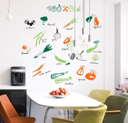 Vinilo decorativo frutas y verduras vinilos decorativos - Papel de vinilo para cocinas ...