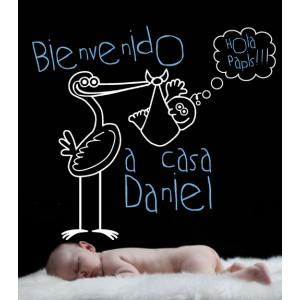 Vinilo Decorativo Bienvenida para bebes