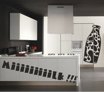 Vinilo decorativo divertido de cocina vinilos decorativos for Vinilos pared cocina