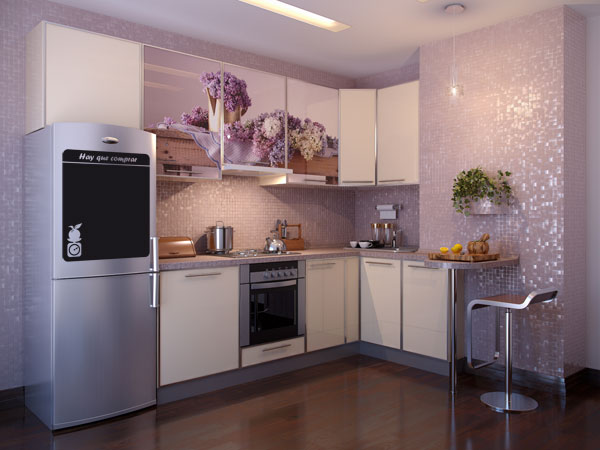 Vinilos decorativos pizarra adhesiva para frigorificos - Cocinas con vinilo ...