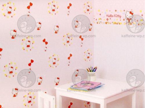 Guardas infantiles de hello kitty vinilos decorativos - Cenefas de papel infantiles ...