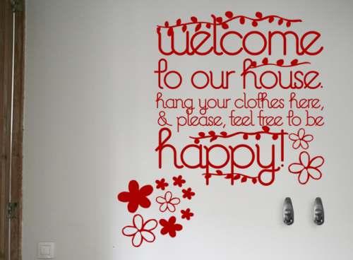 vinilo decorativo de bienvenida me gusta como regalo de bienvenida para aquellas personas que estrenan casa nueva