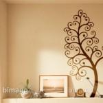 Un bonito arbol de fantasía en la pared