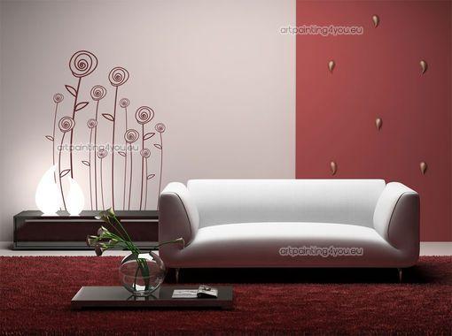 Vinilos decorativos flores modernas vinilos decorativos for Combinacion de colores para oficinas modernas