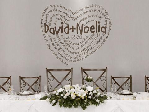 Vinilo decorativo boda gustavo adolfo becquer vinilos for Vinilos dormitorio de matrimonio