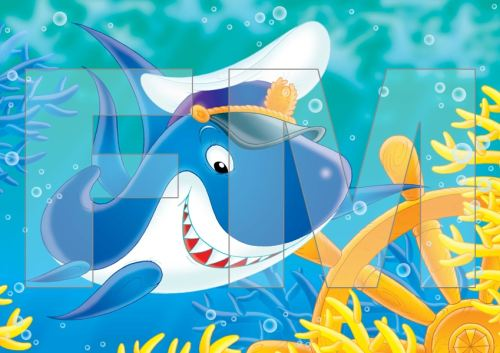 Fotomural para niños :: Tiburon