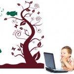 Bonito árbol que estimula el razonamiento de los niños