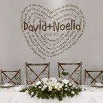 Vinilo Decorativo para la boda con un poema de Gustavo Adolfo Becquer