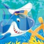 Un tiburón muy simpático para los peques