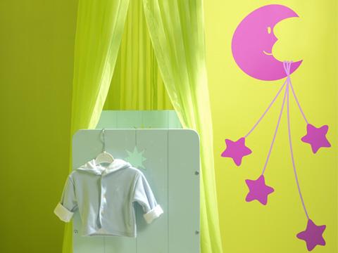 Decoracion dormitorio de bebes vinilo luna lunera for Vinilos dormitorio bebe