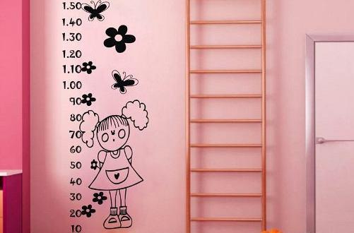 Vinilo decorativo medidor de altura vinilos decorativos for Vinilos dormitorios infantiles