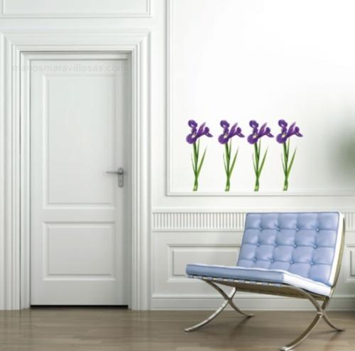 Vinilo decorativo de violetas vinilos decorativos - Vinilos decorativos suelo ...