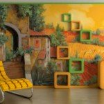 Bellísima La Toscana, en la pared de la sala