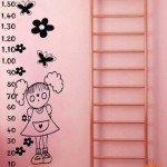 Un medidor de altura muy simpático para el dormitorio infantil