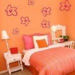 Flores Adhesivas simples para el dormitorio de ella