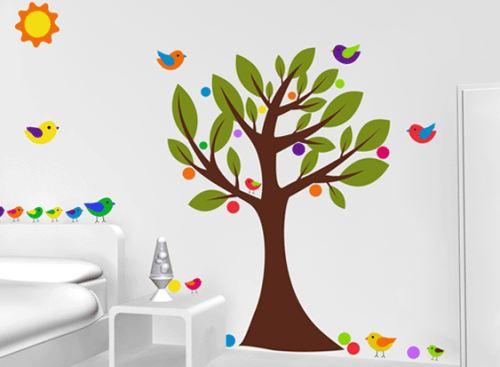 Vinilo decorativo arbol infantil vinilos decorativos for Pegatinas pared arbol infantil