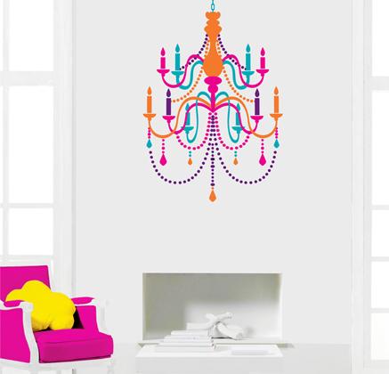Vinilo decorativo candelabro fantasia vinilos decorativos for Vinilo techo habitacion