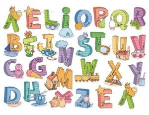 Vinilo Decorativo Letras Infantiles Adhesivas