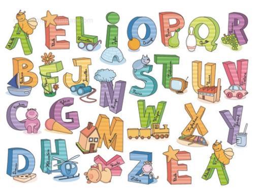 Adhesivos Aprender las letras :: Vinilos Decorativos - vinilos ...