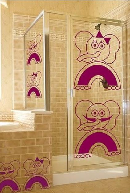 Vinilo decorativo elefantes vinilos decorativos - Vinilos para mamparas de bano ...