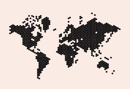 Vinilos decorativos mapamundi celdas vinilos decorativos for Vinilo mapa del mundo
