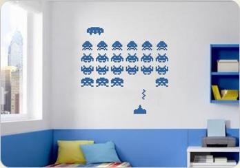 Vinilo Decorativo Space Invaders